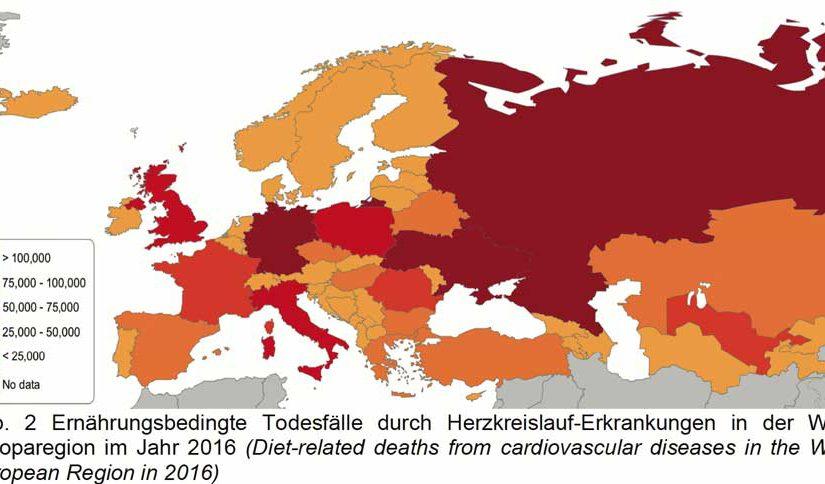 Herz-Kreislauf-Erkrankungen und Ernährung in Europa: Jeder zweite bis dritte Todesfall vermeidbar
